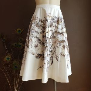 White House  Black  Market floral skirt w/ sequins